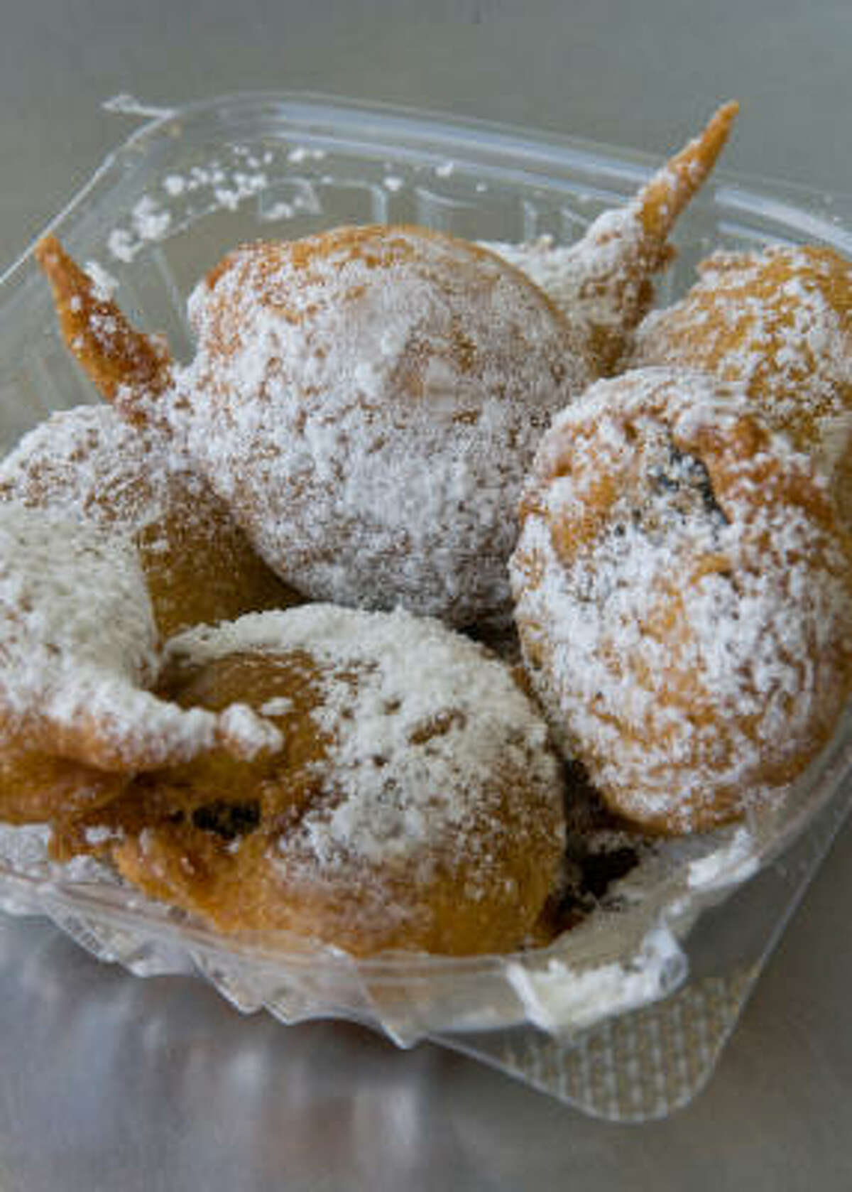 Fried Oreos from Piches Beignets, at the Houston Livestock Show and Rodeo