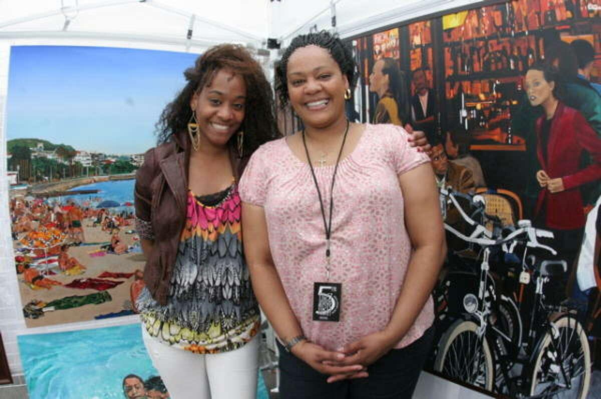Laycee Mitchell, left, and Shelley Bibbins