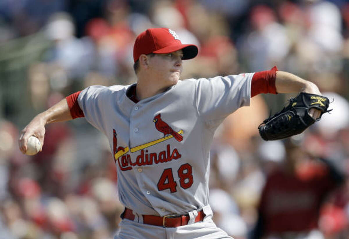 St. Louis Cardinals pitcher Brad Thompson threw three scoreless innings of relief in Saturday's game.
