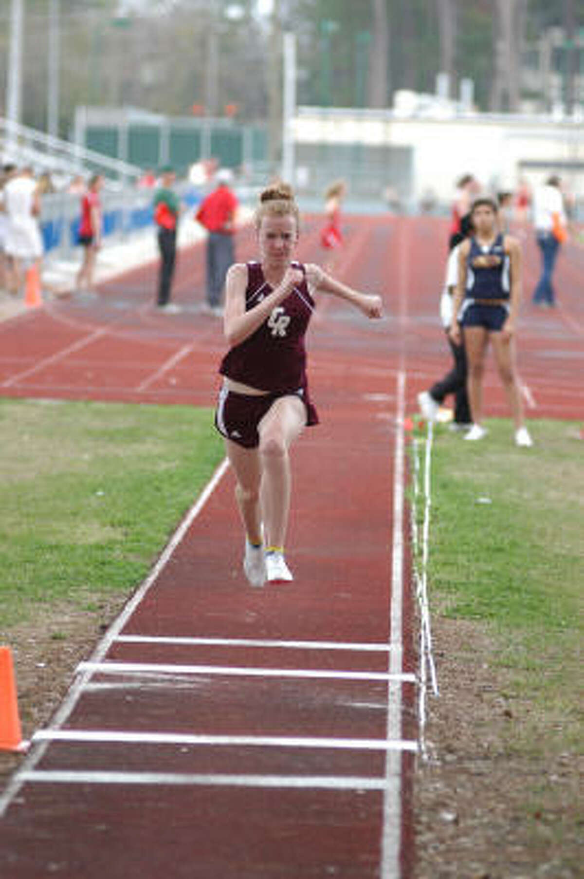 Cinco Ranch's Allyson Pettit competes in the triple jump.