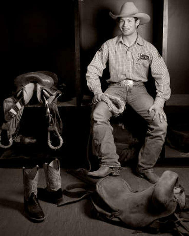 Heith DeMoss, a saddle bronc rider from Heflin, La. Photo: Smiley N. Pool, Chronicle