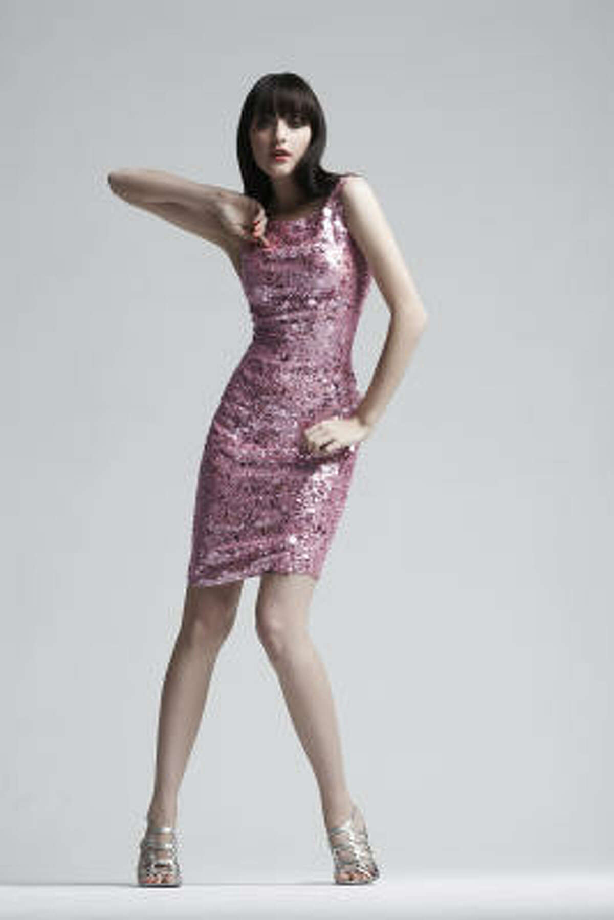 A pink sequin dress from Neiman Marcus.