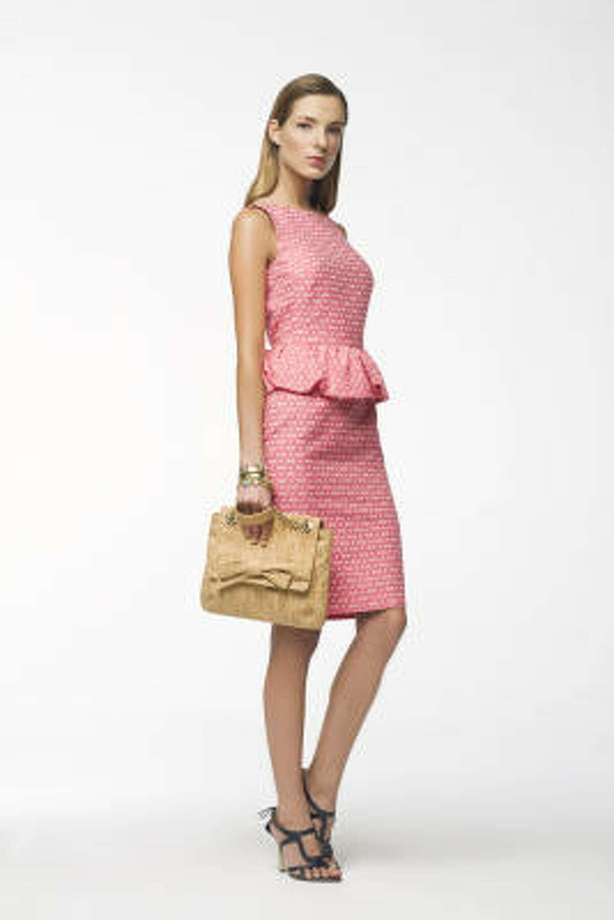 A pink print dress and accessories from CH Carolina Herrera.