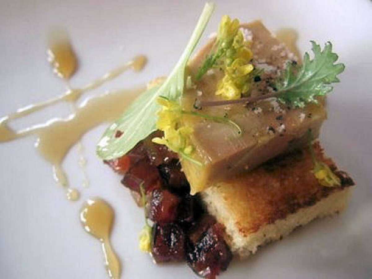Torchon of foie gras with candied bacon at the Rainbow Lodge.