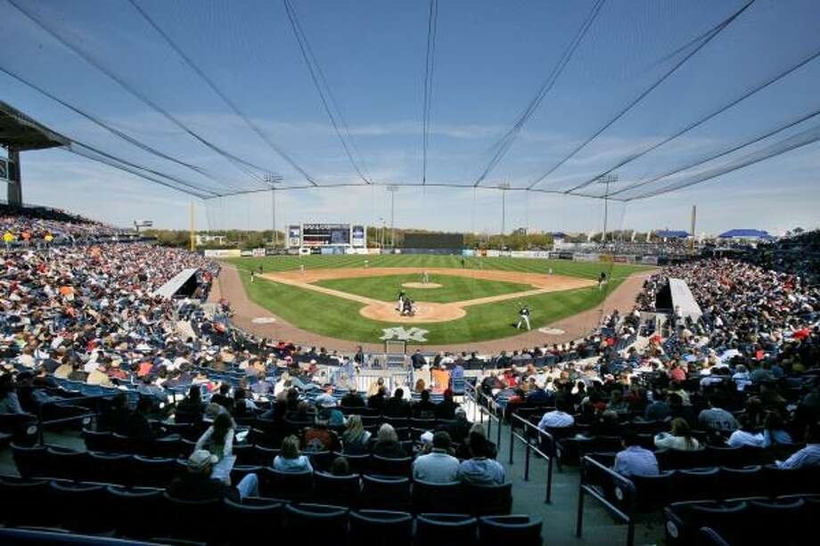 The USA plays the New York Yankees in a spring baseball game at George M. Steinbrenner Field in Tampa, Fla., Tuesday. The USA won 6-5. Photo: Gene J. Puskar, AP