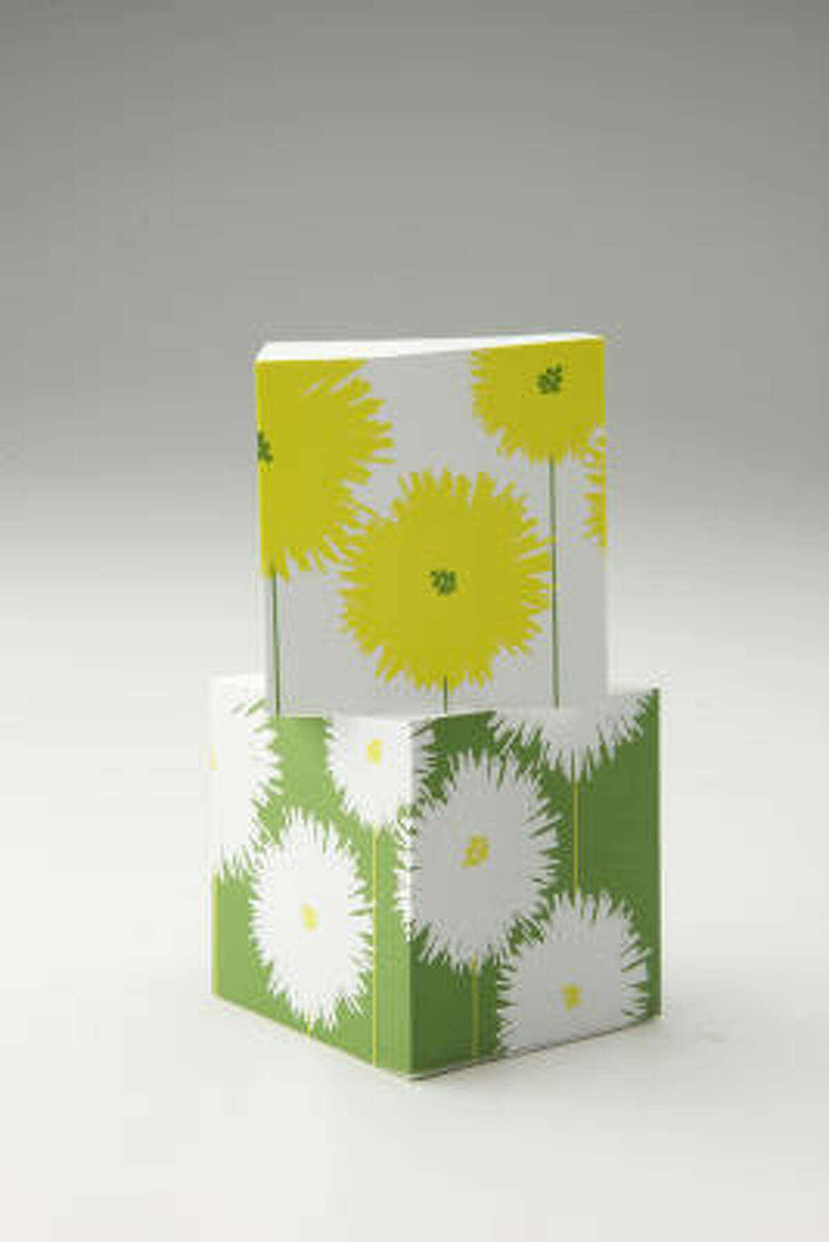 Snow & Graham pom pom mini noteblocks, $15.50 for two, PH Design Shop, 3306 South Shepherd Dr.