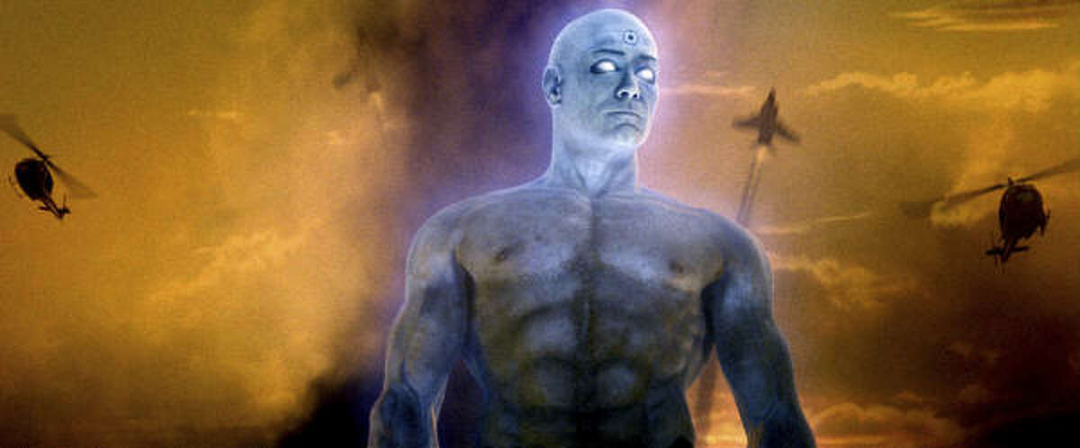 BILLY CRUDUP as Dr. Manhattan in Warner Bros. Picturesí and Paramount Picturesí action/sci-fi ìWatchmen.î PHOTOGRAPHS TO BE USED SOLELY FOR ADVERTISING, PROMOTION, PUBLICITY OR REVIEWS OF THIS SPECIFIC MOTION PICTURE AND TO REMAIN THE PROPERTY OF THE STUDIO. NOT FOR SALE OR REDISTRIBUTION.