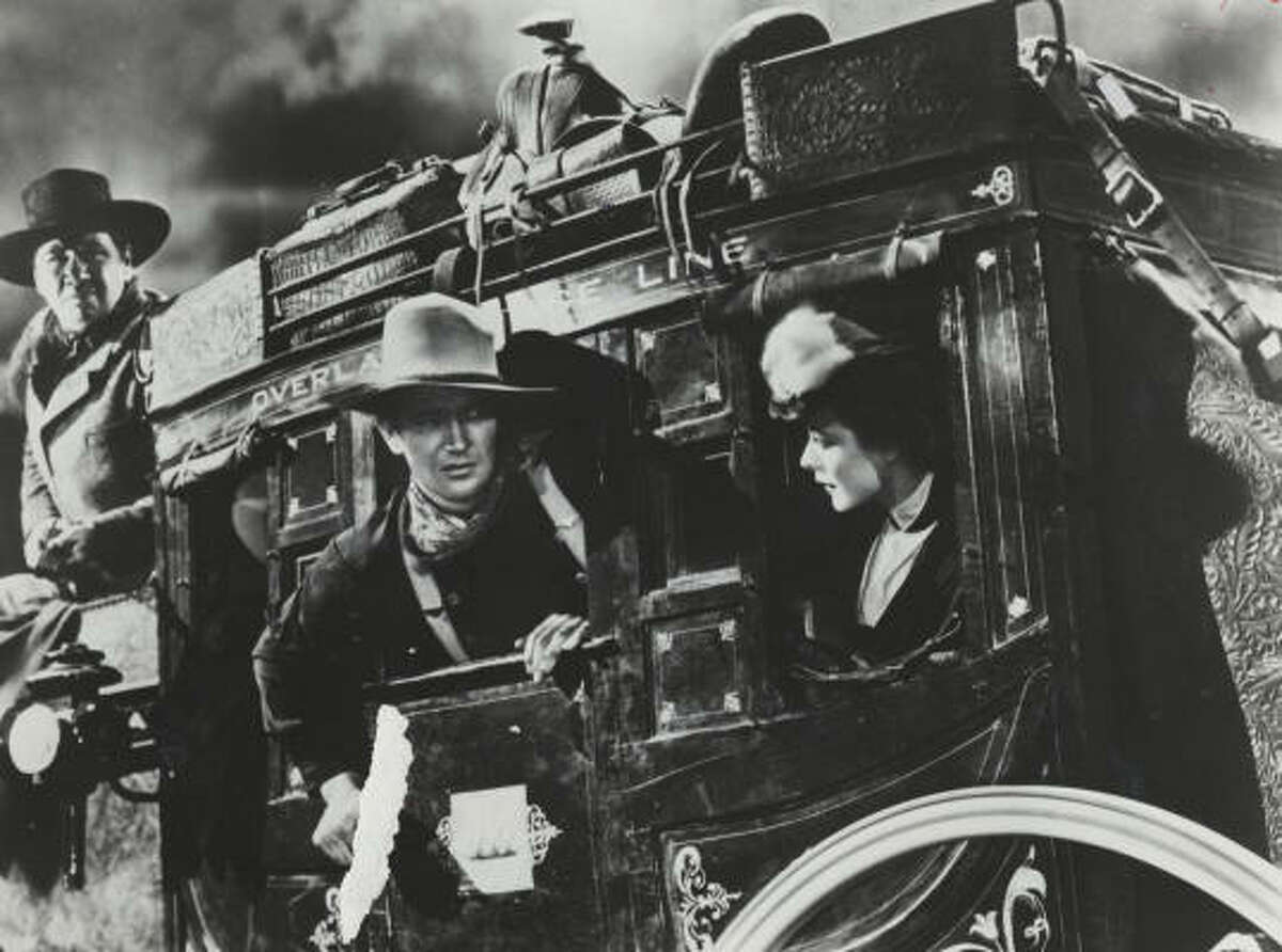 Stagecoach (1939): The John Ford film that made John Wayne (after about 80 movies) a star and helped make westerns a serious adult genre. It's Airport in the old west with a strong ensemble cast, good action, a romance and great scenery.