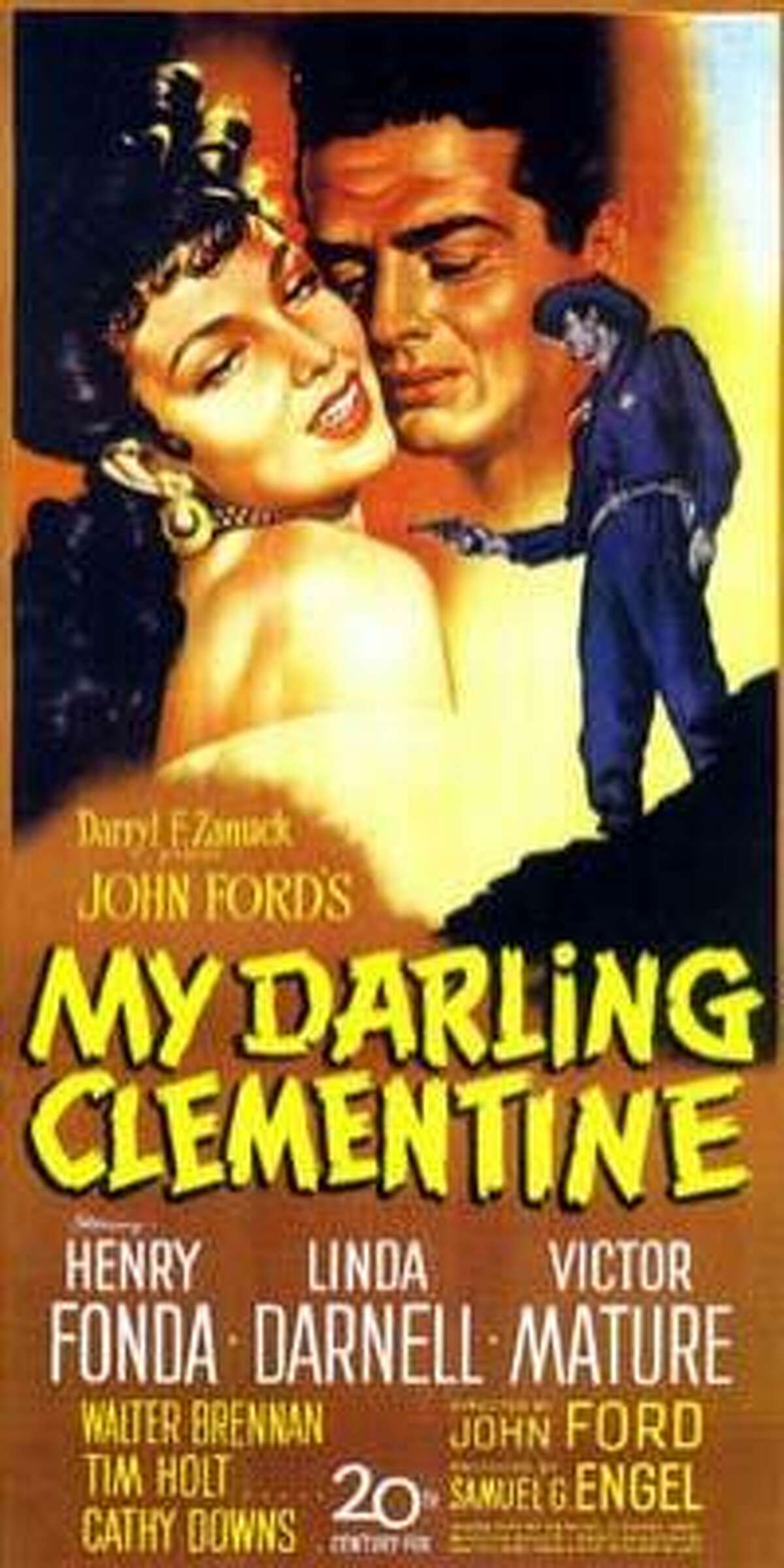 My Darling Clementine (1946): Henry Fonda stars in Ford's version of the Wyatt Earp/Tombstone story. Dated but stacked with wonderful moments, beautiful scenes, powerful emotions and some good action. More myth than truth. Walter Brennan is deliciously evil as Old Man Clanton.