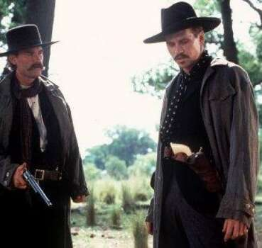 'Tombstone' - Legendary marshal Wyatt Earp joins his brothers to pursue their collective fortune in the thriving mining town of Tombstone. Earp and his notorious pal Doc Holliday are called into action when a gang of rustlers begins terrorizing the town. Available Oct. 1 Photo: File Photo