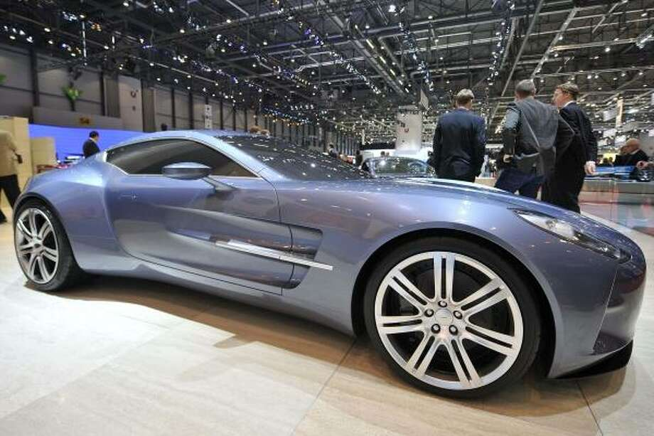 The Concept Car Aston-Martin One-77 is shown during the press day at the 79th Geneva International Motor Show, Tuesday, March 3, 2009, in Geneva, Switzerland. The Motor Show will open its gates to public from March 5 to 15, presenting over 1000 brands with more than 85 world and european firsts in the sector saloon alone. Photo: SANDRO CAMPARDO, AP