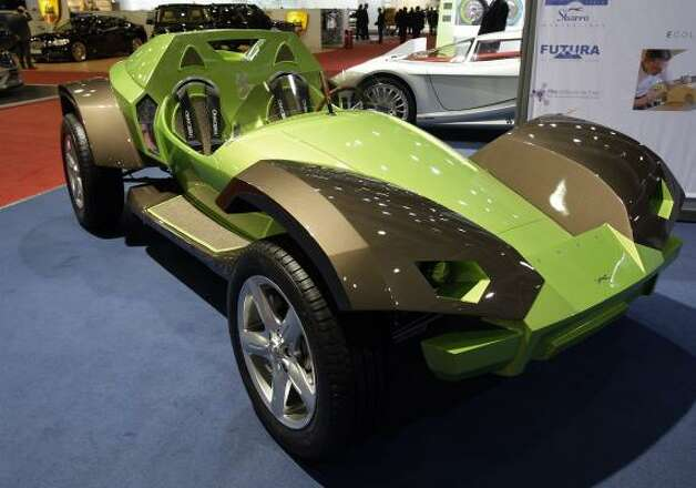 The new Swiss Sbarro Espera Montbeliard Buggy concept car is shown during the press day at the 79th Geneva International Motor Show, Tuesday, March 3, 2009, in Geneva, Switzerland. The Motor Show will open its gates to public from March 5 to 15, presenting over 1000 brands with more than 85 world and european firsts in the sector saloon alone. Photo: MARTIAL TREZZINI, AP