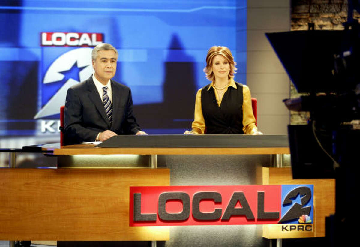 Channel 2 anchor Bill Balleza, sitting to the left of Dominique Sachse, will focus on personal improvement, being more positive and less judgmental.