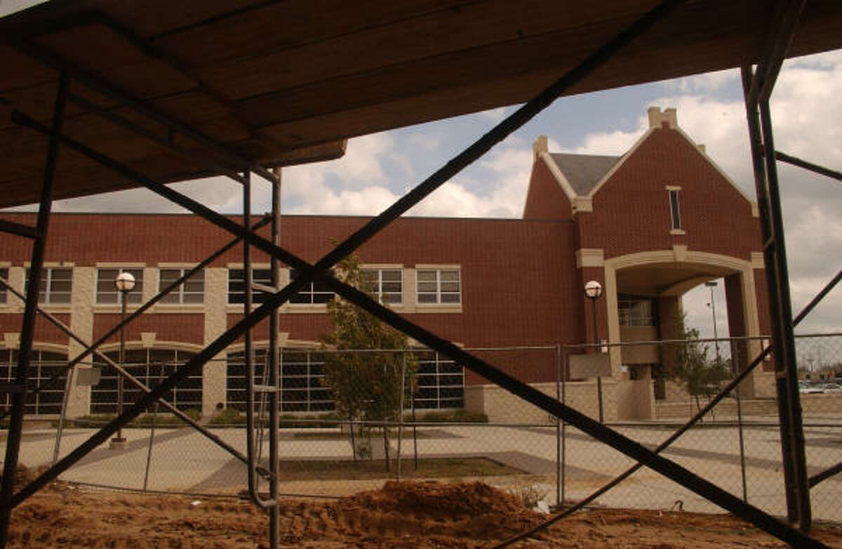 New construction of Manvel High School next to the original high school on Hwy. 6 in Manvel.