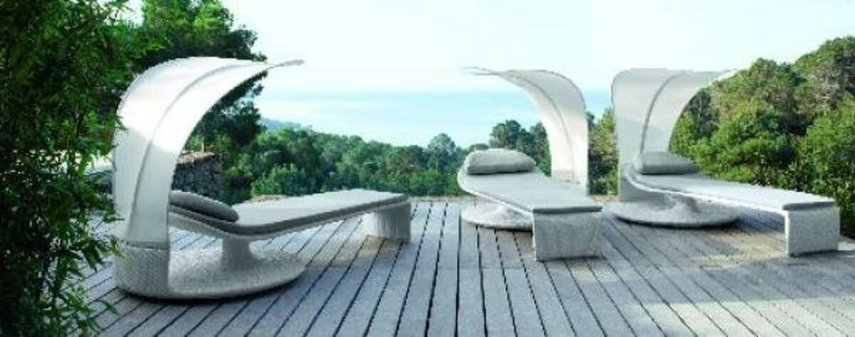 Need to drift off? This dreamy Janus et Cie chaise lounge could get you there, even without the ocean view. Handwoven in durable and colorfast Dedon Fiber, the Summer Cloud pivots 360 degrees for as little or as much sun exposure as you'd like. Janus et Cie, 5120 Woodway, Suite 155; 713-621-5950.