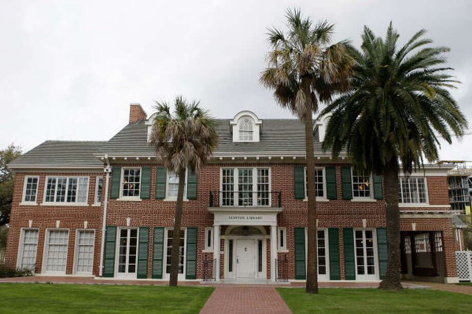 After extensive renovations to three of its four buildings, the Clayton Library Center for Genealogical Research reopens March 2. The center is anchored by the former home of William Lockhart Clayton, a Houston statesman and businessman. Photo: Melissa Phillip, Chronicle