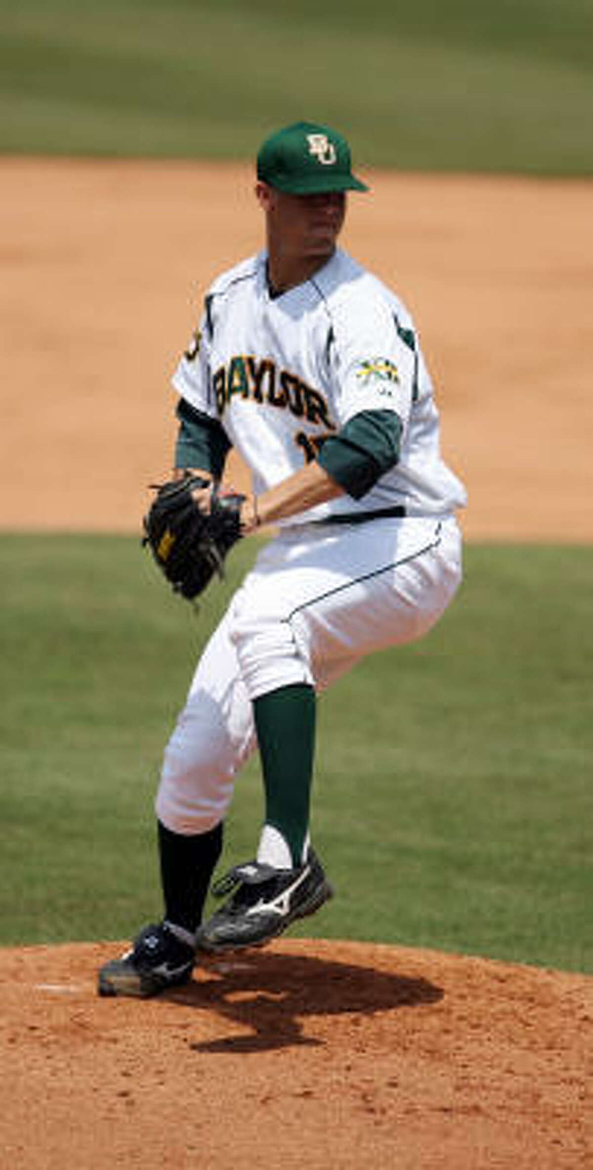 Baylor righthander Kendal Volz is expected to be among the top prospects in Major League Baseball's June amateur draft.