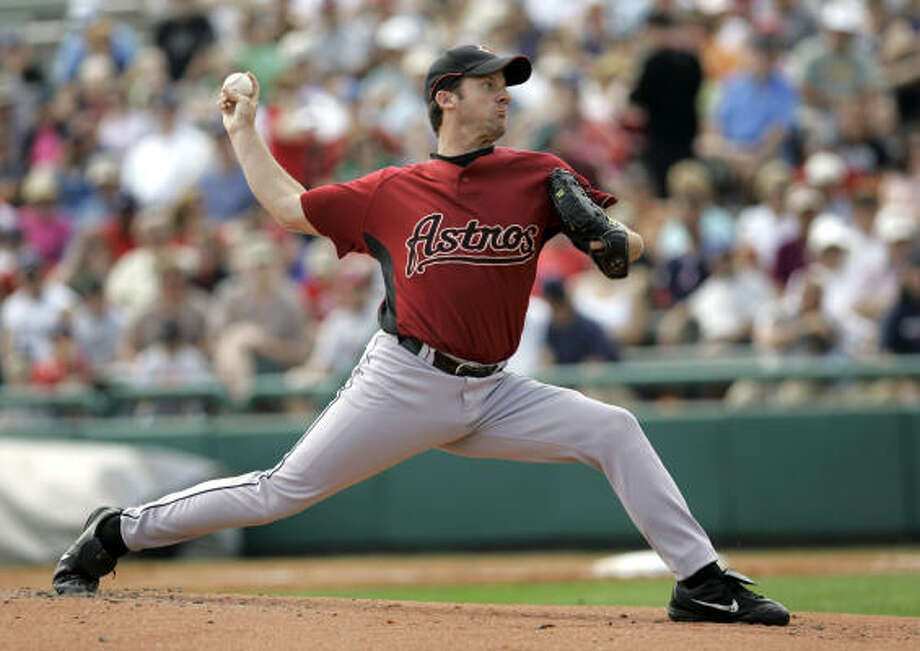 Astros pitcher Roy Oswalt threw three innings, allowing a two-run homer and little else. Photo: John Raoux, AP
