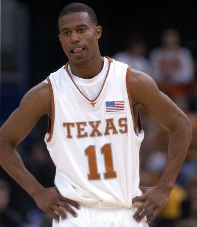 T.J. Ford, No. 11, basketball (2002-03): In two seasons in Austin, Ford led the Longhorns to the Final Four and picked up the Naismith and Wooden awards as national player of the year. Photo: CHRISTOBAL PEREZ, Houston Chronicle