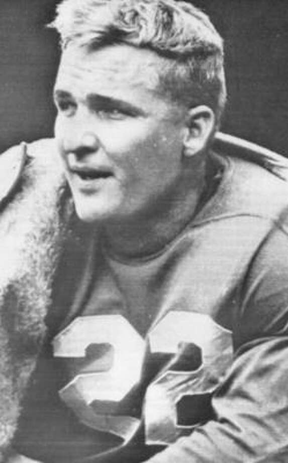 Bobby Layne, No.  22, football (1944-47):A two-sport star, Layne was a consensus All-American who went 28-6 as a starter at quarterback. He has been inducted into both the College Football and the NFL Halls of Fame. Photo: UPI