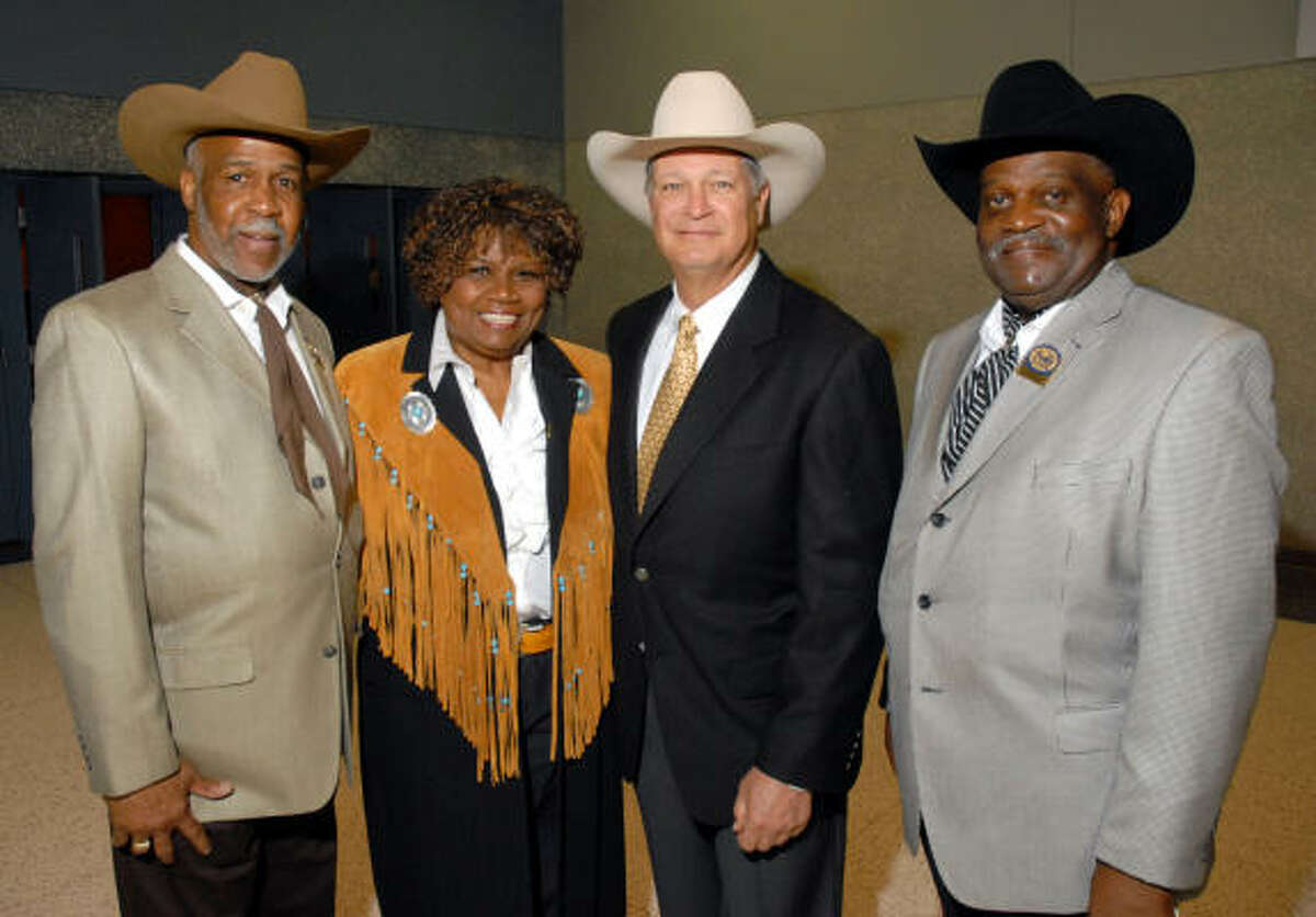 Alex Prince, from left, Bettye Bruno, Butch Robinson and Warner D. Ervin