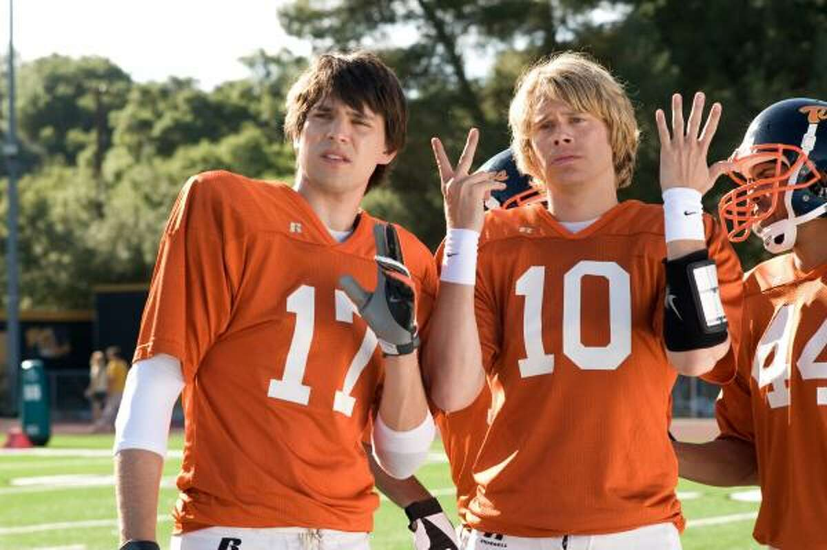 Nicholas D'Agosto, left, and Eric Christian Olsen star in Fired Up.