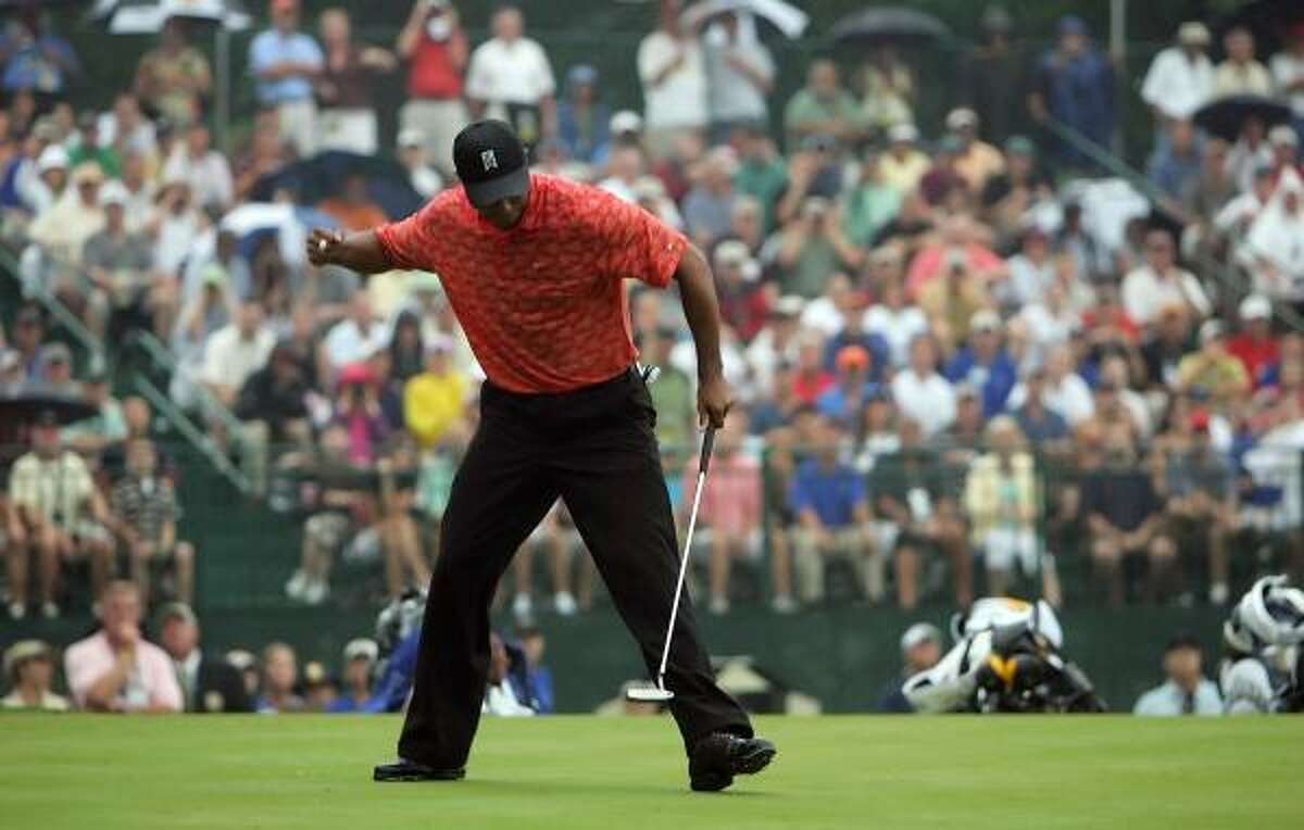2006 PGA CHAMPIONSHIP: Woods' three bogeys tied a record for fewest in a major. His win at Medinah Country Clubin Medinah, Ill., was his 12th major title.
