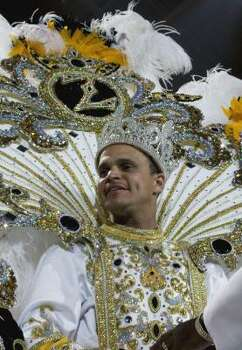 Zulu Social Aid and Pleasure Club 2009 King Tyrone Mathieu is seen during the 2009 club's coronation ball on Friday, Feb. 20, 2009 in New Orleans. Photo: JUDI BOTTONI, AP