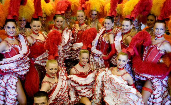 Moulin Rouge dancers pose for the press on Feb.  20, 2009, in Rio de Janeiro, Brazil. Photo: ANTONIO SCORZA, AFP/Getty Images