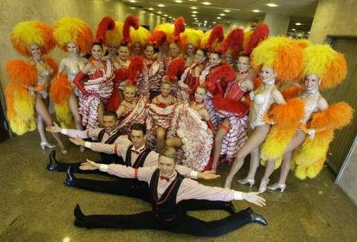 France's Moulin Rouge dancers pose after a press conference on Feb. 20, 2009, in Rio de Janeiro, Brazil. Photo: Natacha Pisarenko, AP