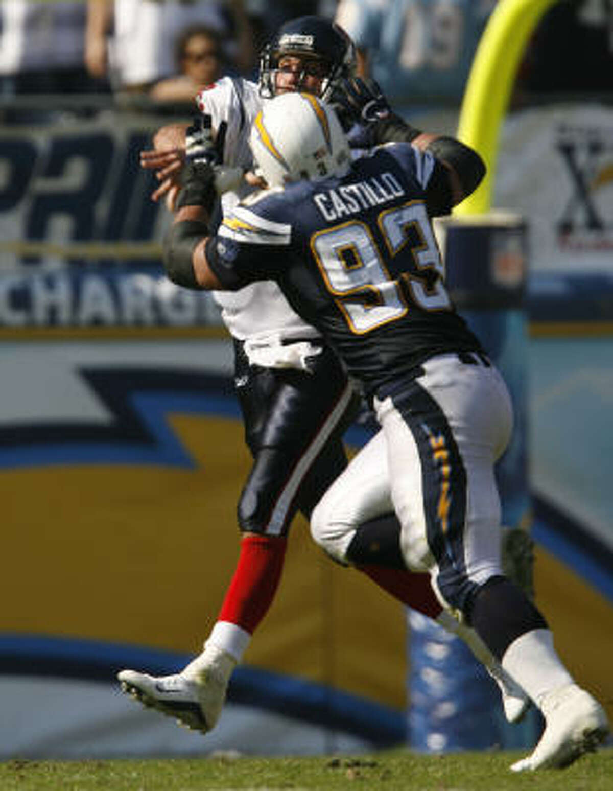 Oct. 28, 2007 | Texans vs. Chargers: After Schaub left the game with an injury, Rosenfels threw two interceptions against the Chargers in a 35-10 loss.