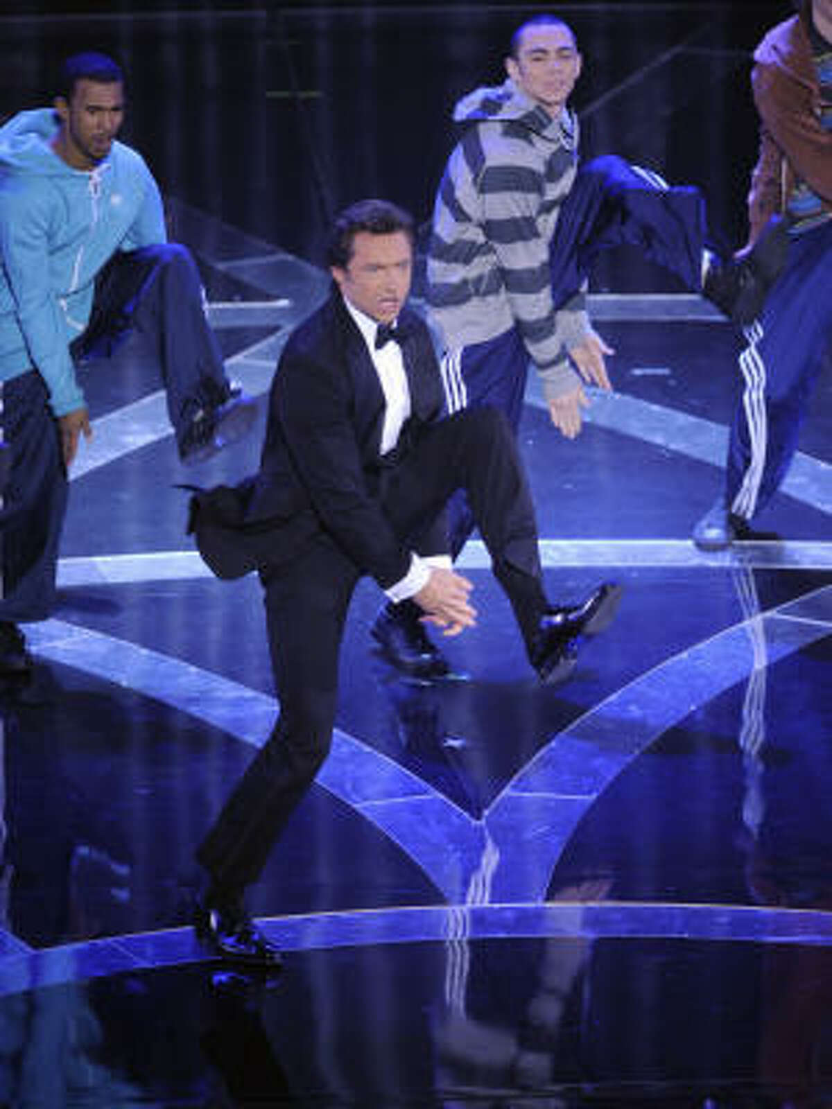 Oscar host Hugh Jackman opens the 81st Academy Awards.