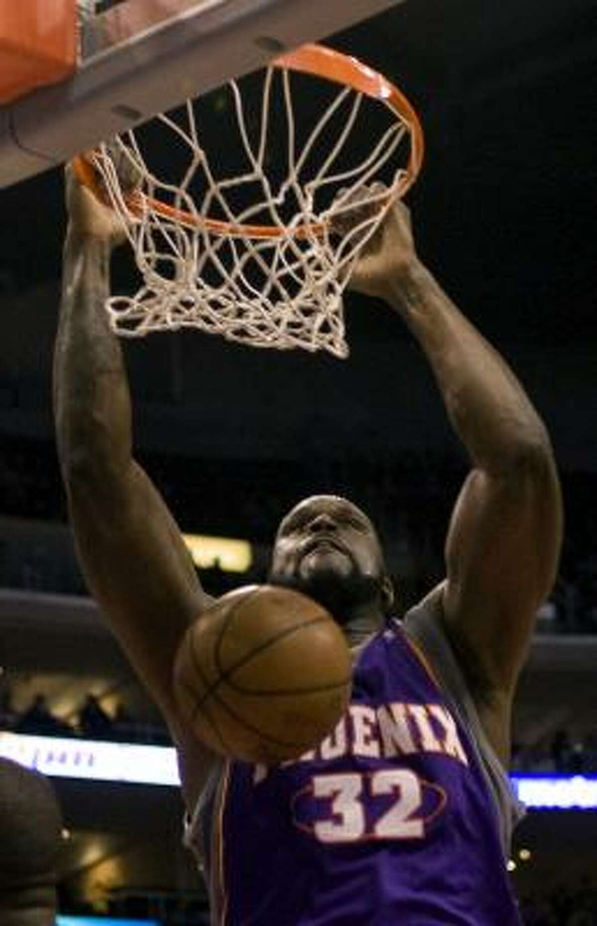 STAYING: Suns center Shaquille O'Neal was rumored to be targeted by the Cleveland Cavaliers, but no deal came of it.