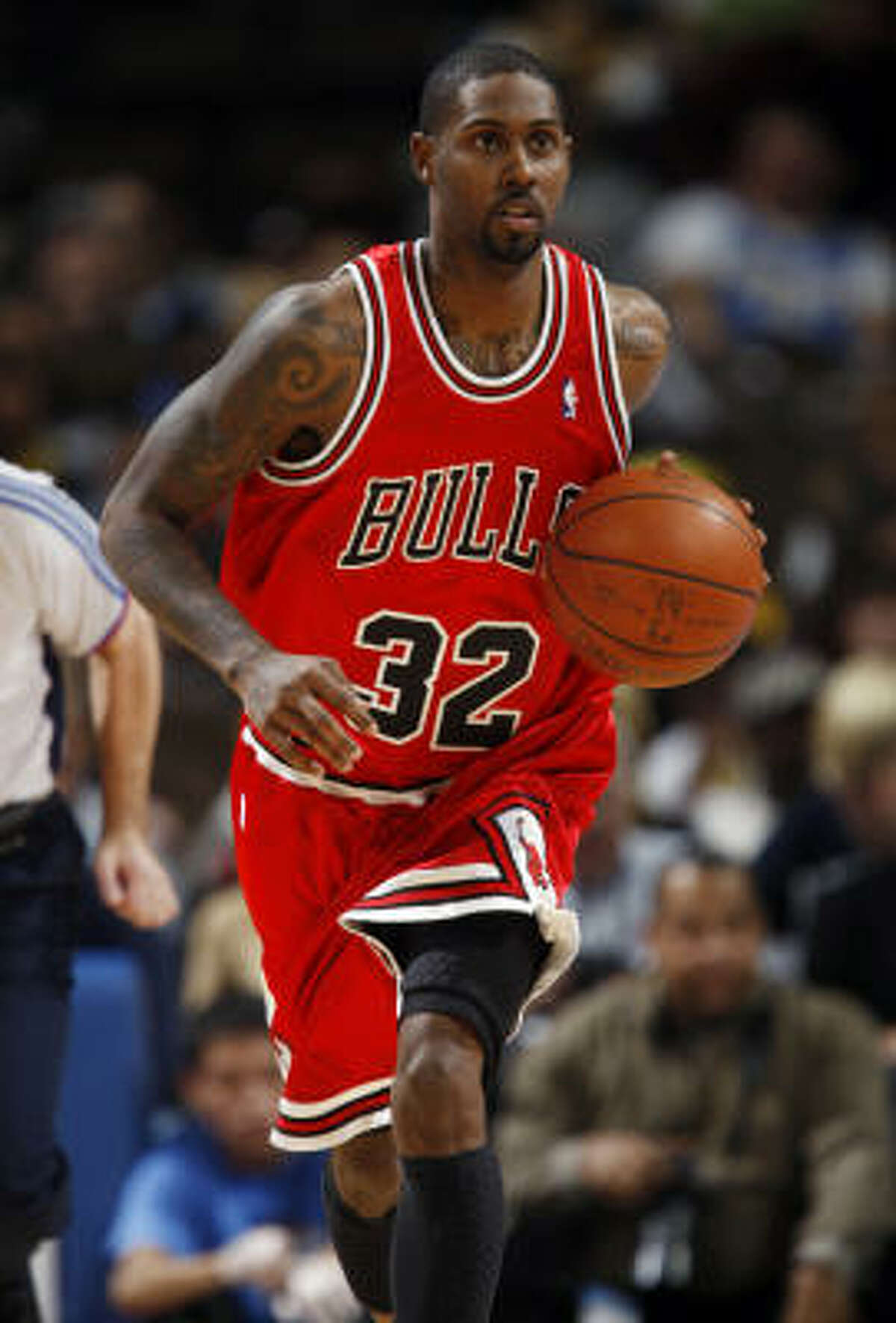 GOING: The Bulls traded disgruntled shooting guard Larry Hughes to the Knicks for Tim Thomas, Jerome James and Anthony Roberson.