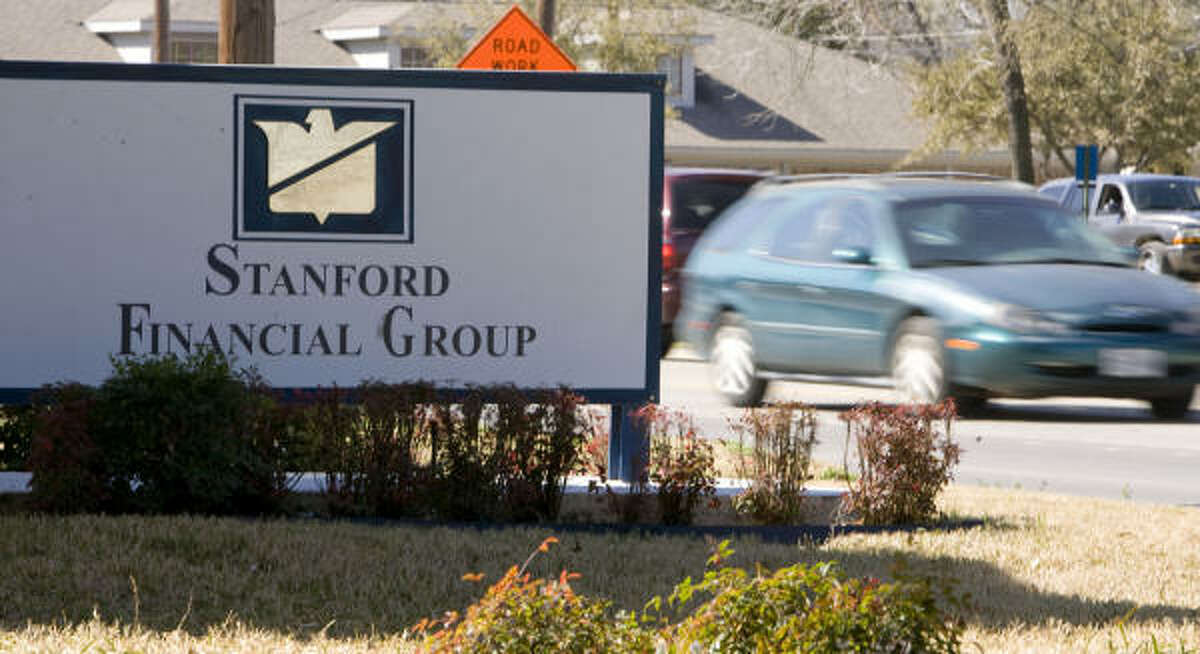The offices of Stanford Financial Group in Mexia.