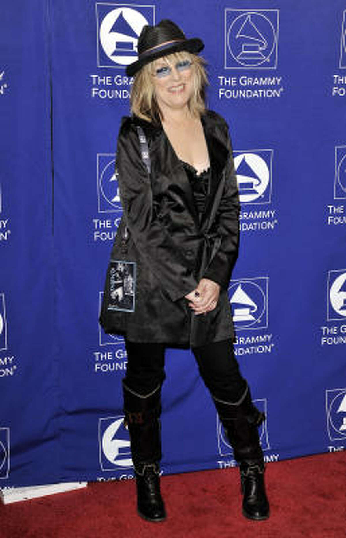 Lucinda Williams got her share of the red-carpet attention at the Grammys.