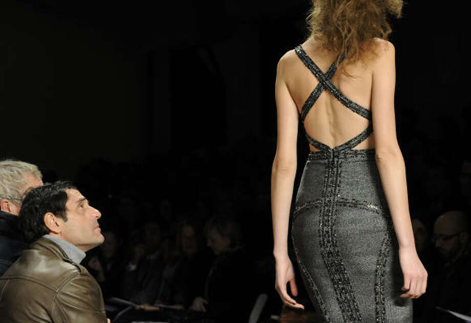 The fall 2009 collection of Herve Leger by Max Azria Photo: LOUIS LANZANO, AP