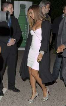 Beyonce Knowles arrives to the Sprite Green Third Annual Jay-Z and Lebron James Two Kings Dinner. Photo: Chris Polk, AP