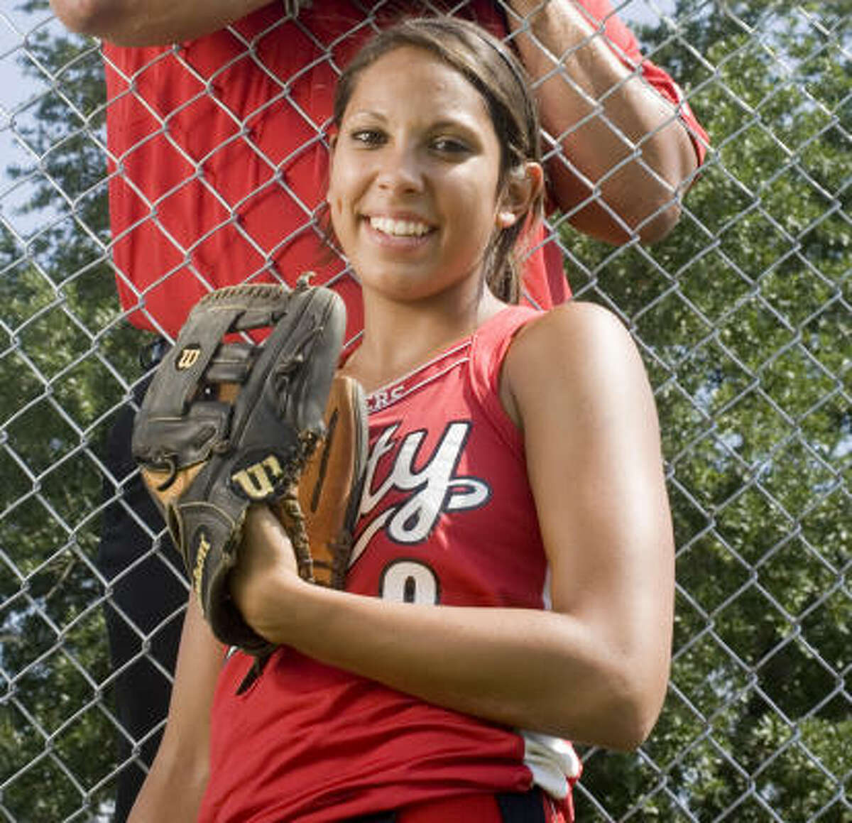 Maate Haack , Infielder, Senior, Katy Haack, who signed with Kansas, missed the 2008 postseason with a broken hand. But she played a major part in getting the Tigers there, hitting .482 and driving in 28 runs. She also is one of the most respected defensive players in the state.