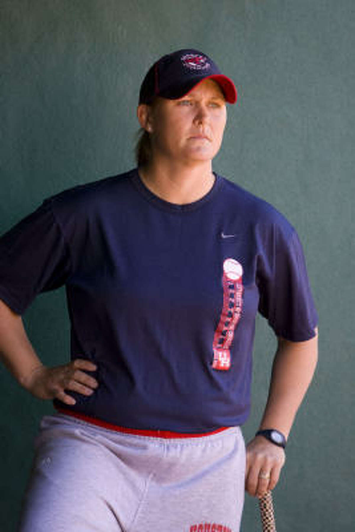Kyla Holas has compiled a 300-187 record in eight seasons as UH's softball coach.