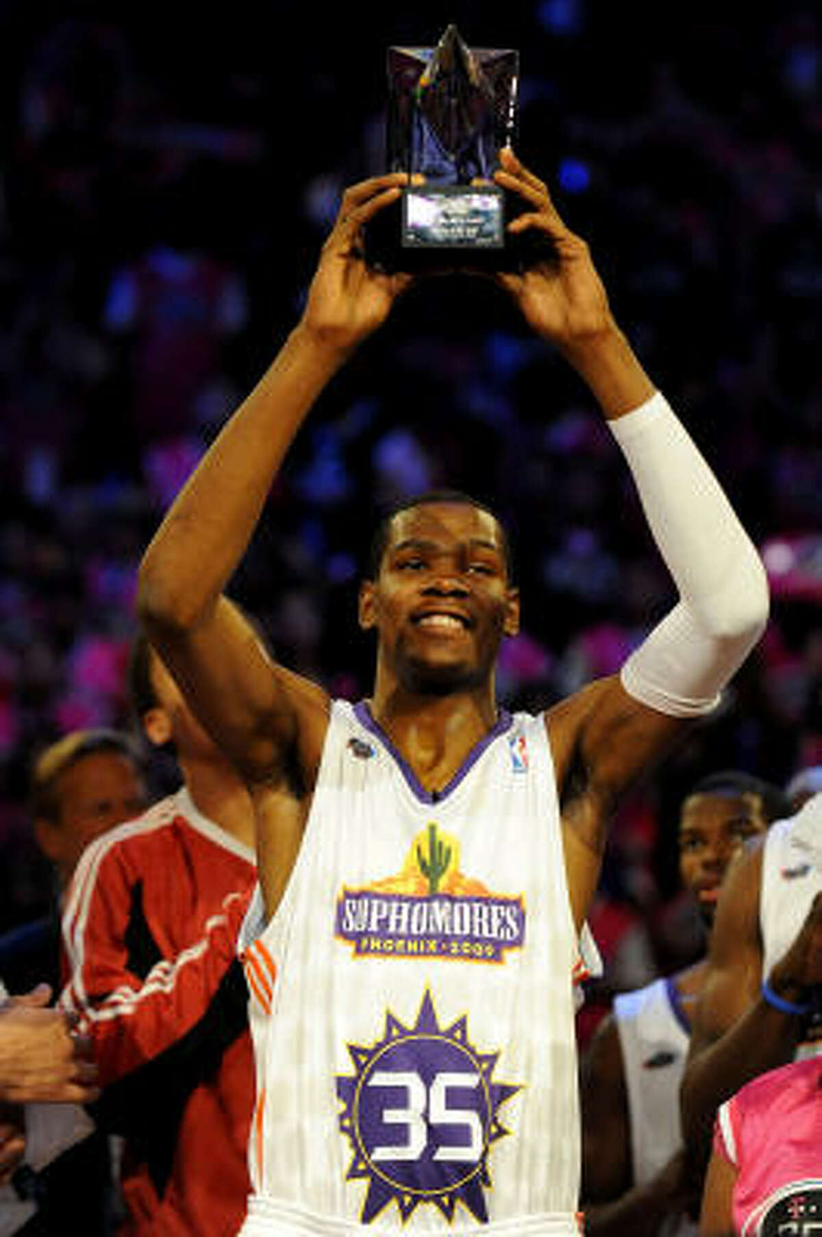 Oklahoma City Thunder sophomore guard Kevin Durant won the Rookie Challenge MVP after scoring a record-setting 46 points.