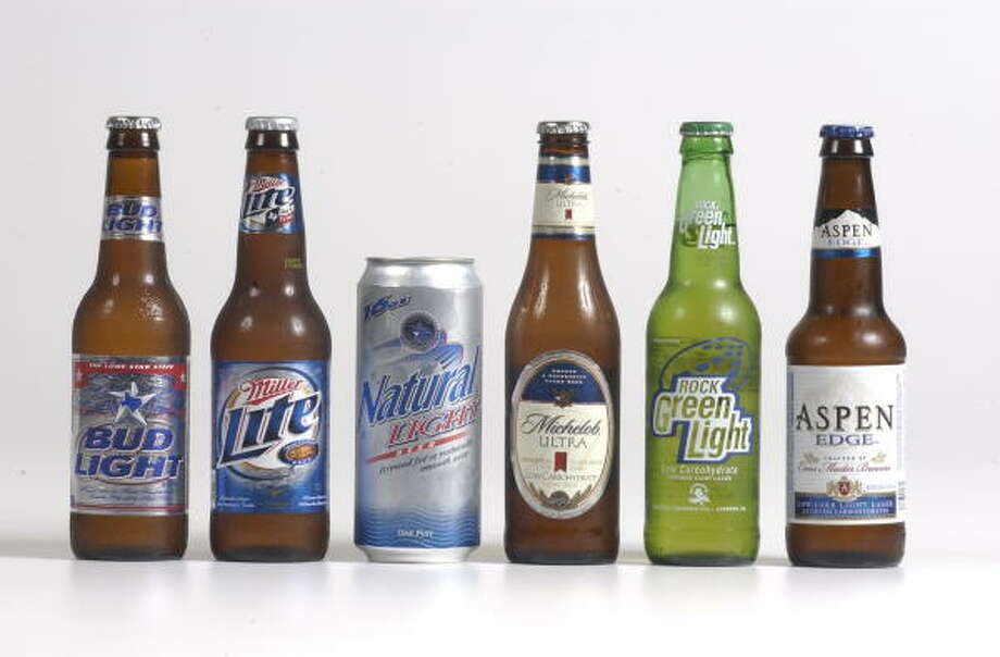 Light beer: Average of 110 calories per 12-ounce can or bottleSource: collegedrinkingprevention.gov Photo: Steve Campbell, Houston Chronicle
