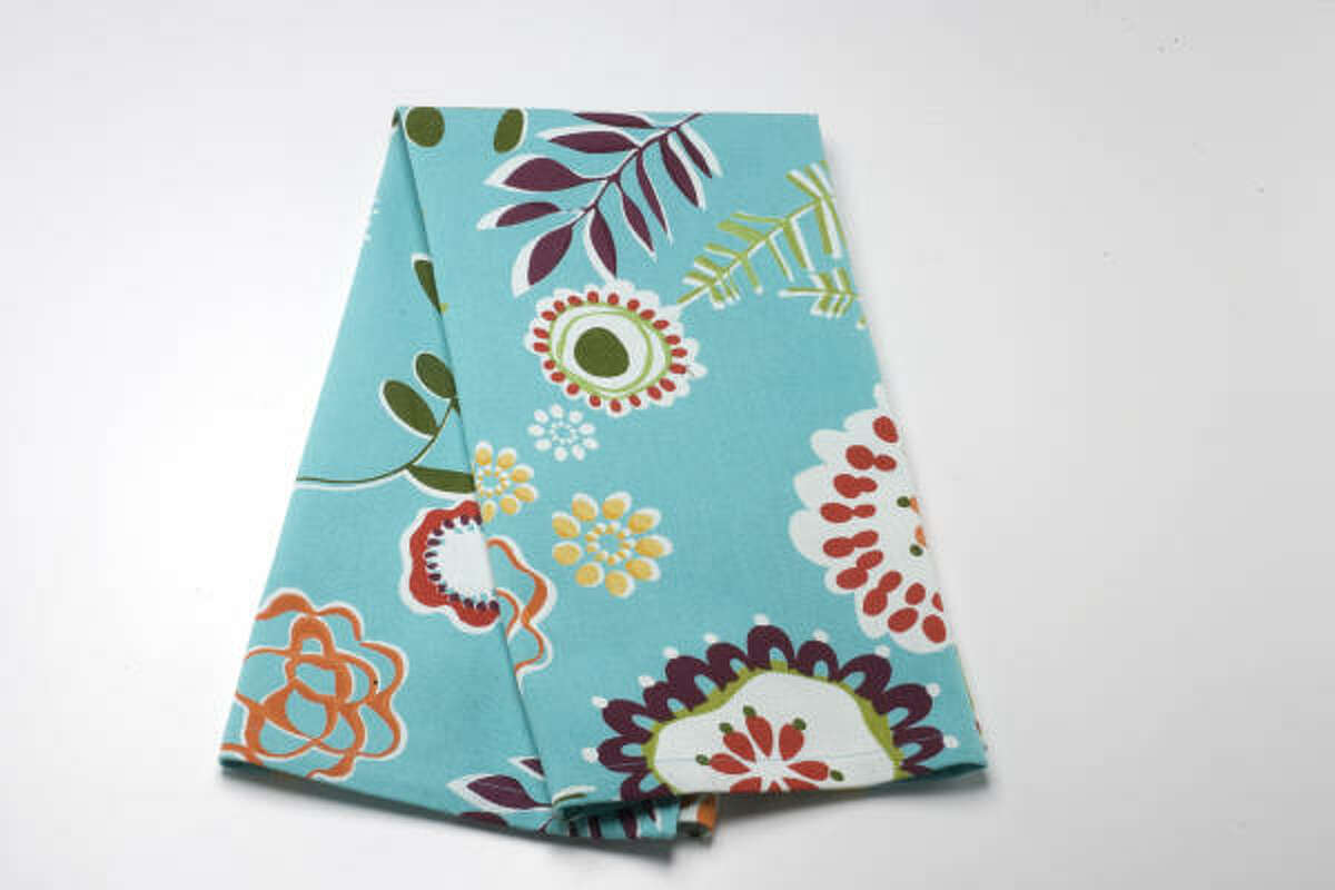 Sometimes, a burst of color — such as this aqua kitchen towel and its rainbow of abstract botanicals — is all it takes to brighten your day. $5.99 at Bering's; berings.com.