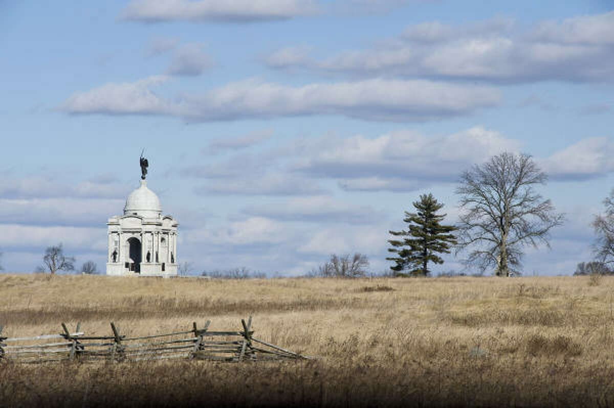 The battlefield at Gettysburg, Pa., marks the northern terminus of the Journey Through Hallowed Ground.