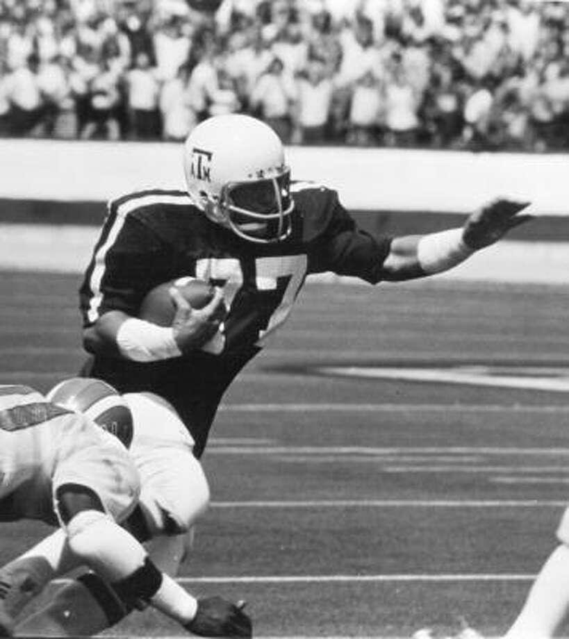 Ed Simonini played for the Aggies from 1972-75 and was an All-American in 1975.