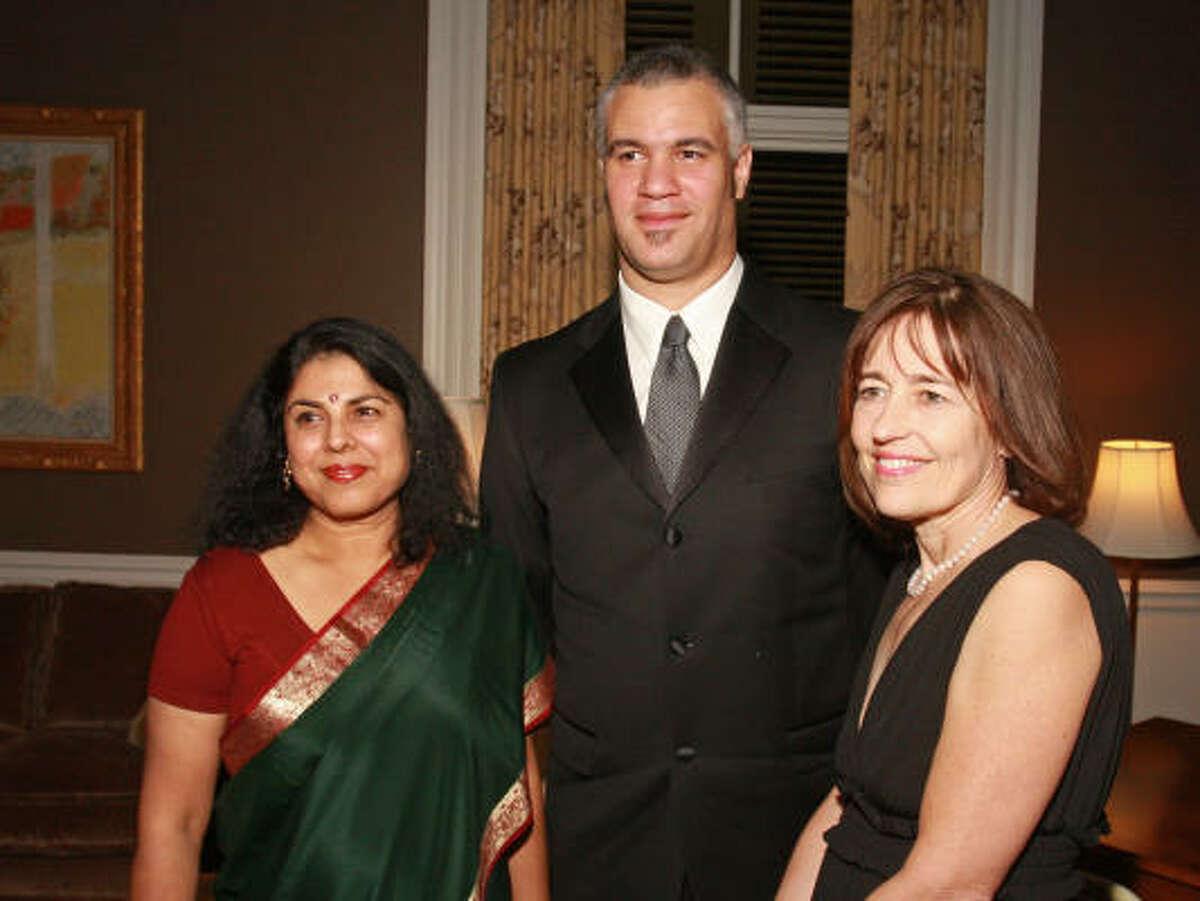 Authors Chitra Ranerjee Divakaruni, from left, Mat Johnson and Andrea White