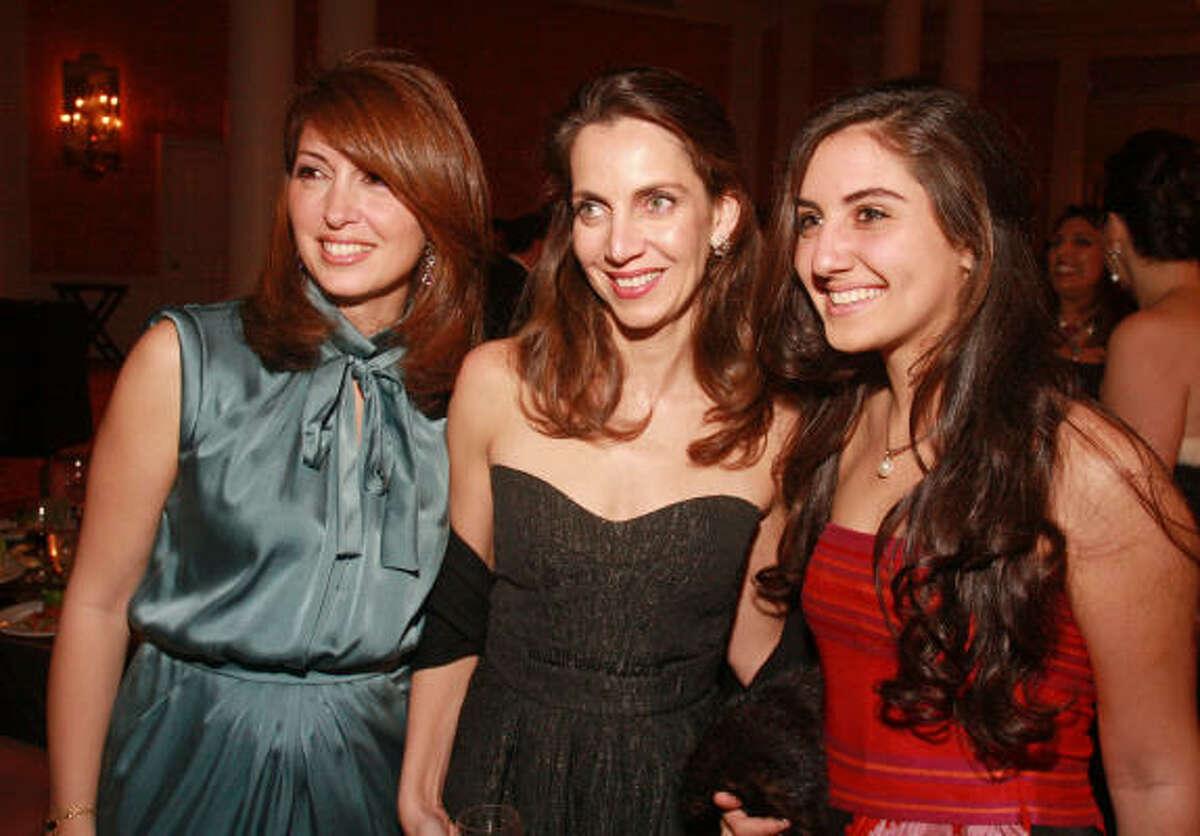 Fay Zakhem, from left, Aliyya Stude and Daria Daniel