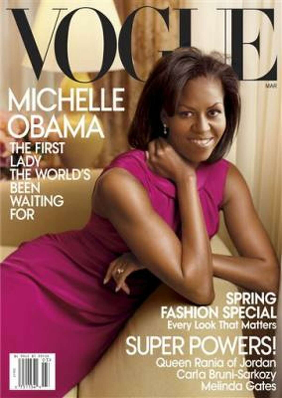 Michelle Obama graces the new edition of Vogue.