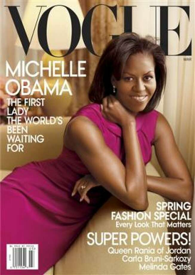 Michelle Obama graces the new edition of Vogue. Photo: AP