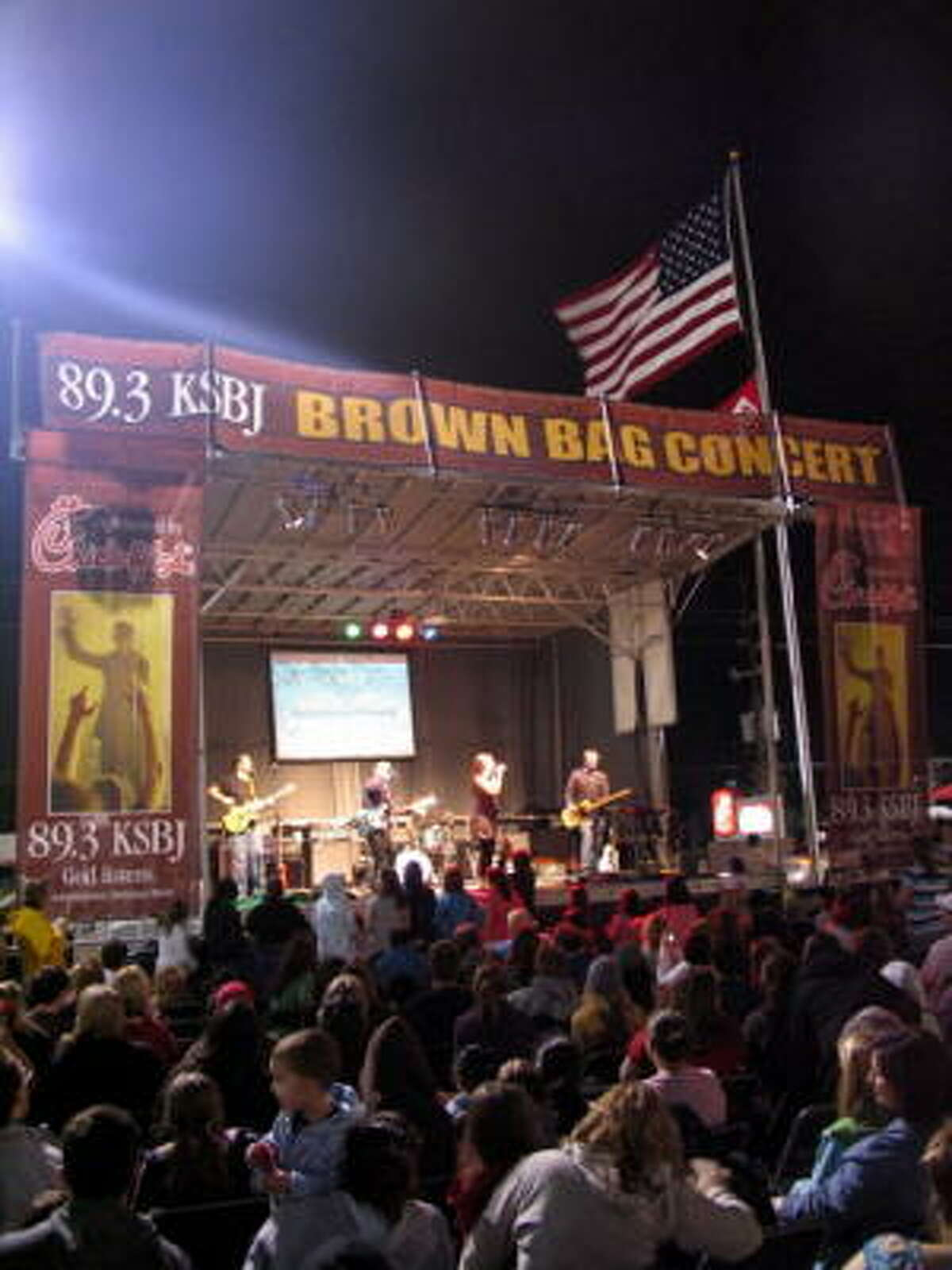 Addison Road performs at Tuesday night's 89.3 KSBJ Brown Bag Concert, which was sponsored by Chick-fil-A at 2920 and Kuykendahl in Spring. Chick-fil-A has sponsored KSBJ's Brown Bag Concert series for more than 15 years.